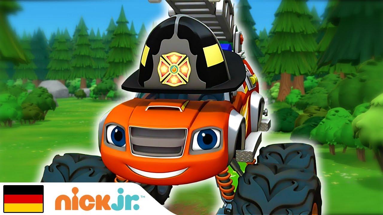 Blaze und die Monster-Maschinen   🚨 Ich bin jetzt Feuerwehrmann! 🚨  Nick Jr.