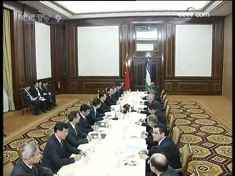 President Hu meets Turkmen, Uzbek leaders - CCTV 091214