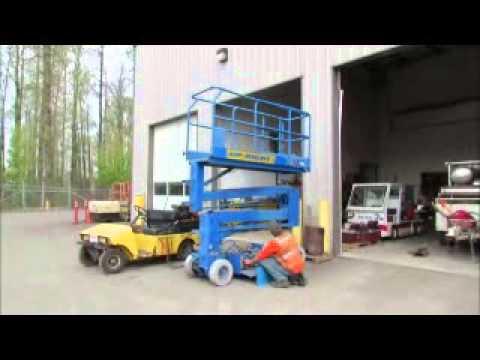 upright x26n scissor lift man aerial 24v electric work 2 45