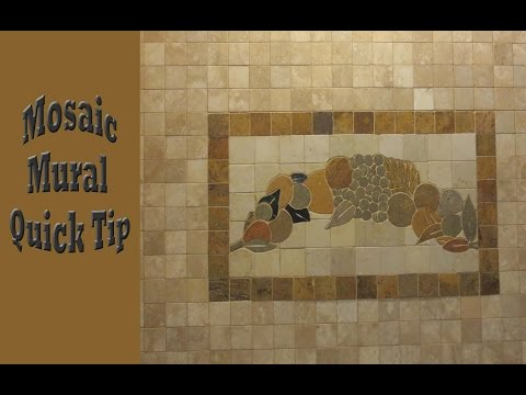 Pre made mosaic tile mural install quick tip.