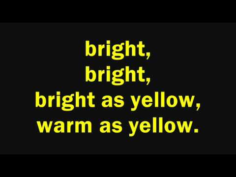 The Innocence Mission - Bright As Yellow (Lyrics on Screen)