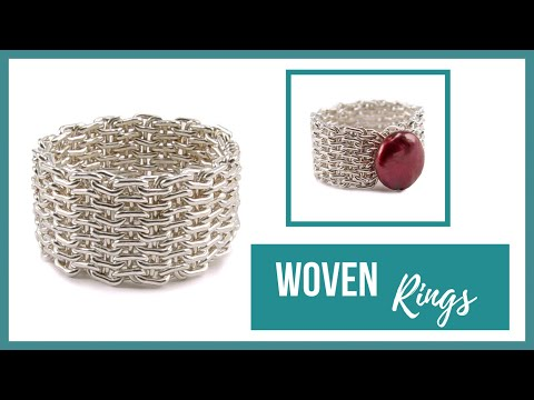 Woven Rings - Beaducation.com