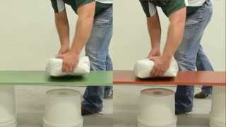 Concrete Countertop GFRC Precast Break Testing  With Fiber