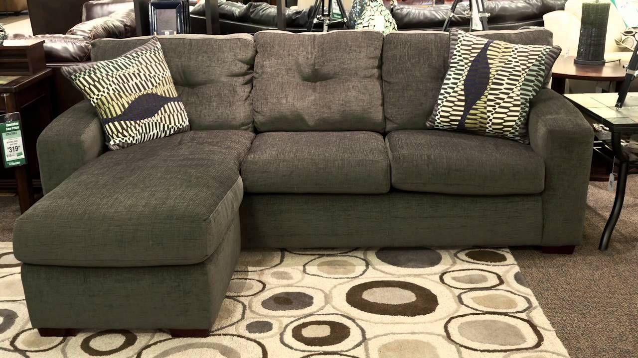 American furniture sofa with chaise youtube for I furniture warehouse