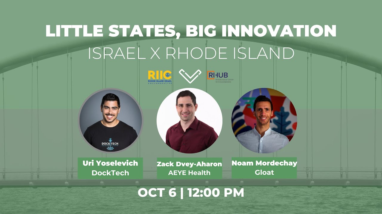 Recording Episode 2 - Little States, Big Innovation RI X Israel, Next Episode is November 10