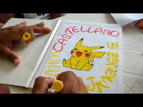 cómo-marcar-cuadernos-motivo-pikachu-para-niños.-fáciles-rápidos-y-lindos.