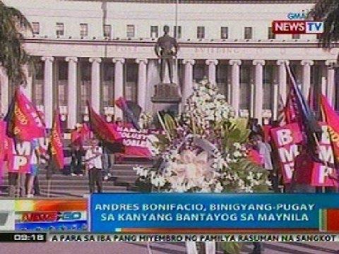 NTG: Andres Bonifacio, binigyang-pugay sa kanyang bantayog sa Maynila