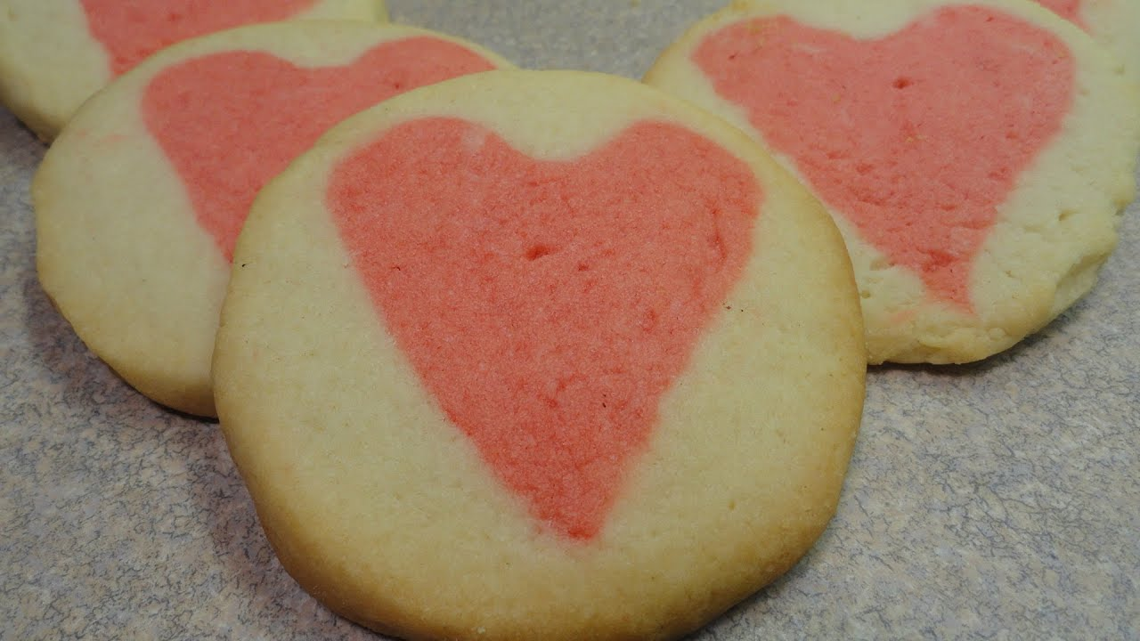 valentine heart cream cheese cookies youtube