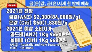 [금값,금시세]  2021년도 금값(ANZ), 은값(C…