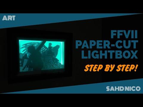 How to make paper-cut light box | Final Fantasy VII | VLOG #13