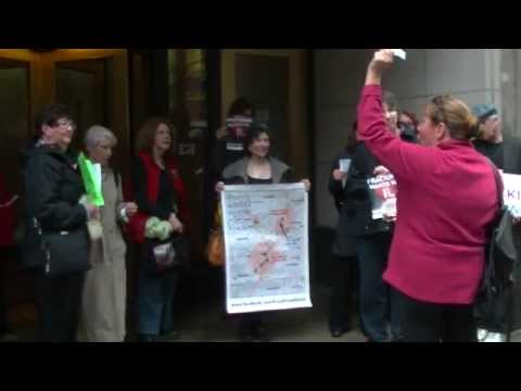 Anti-Fracking Protest As Committee Tables Ruling