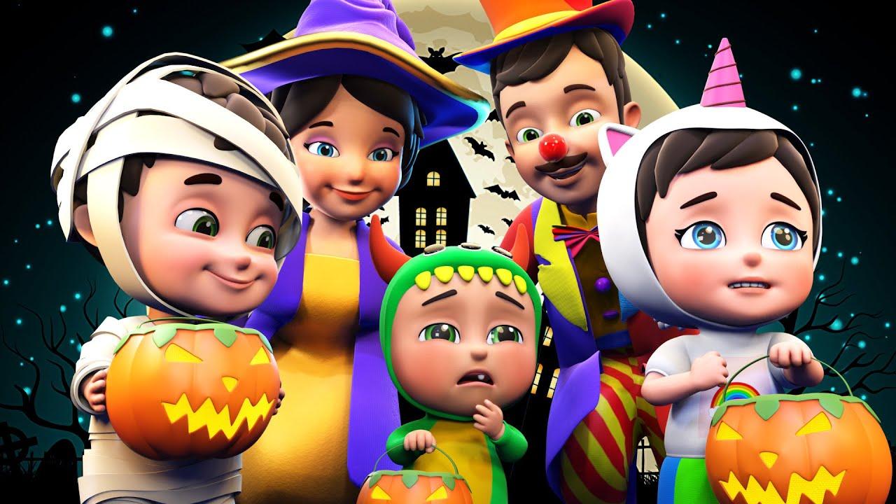 Halloween Dress Up Song   Halloween finger family+ More Nursery Rhymes & Kids Songs - Jugnu Kids