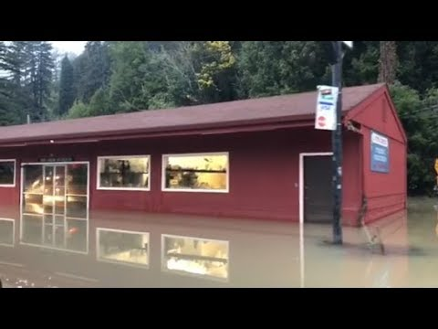 Raw video: Highway 116 into Guerneville