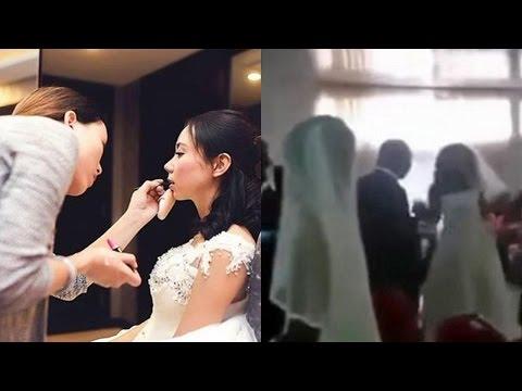 Đi trang điểm cô dâu trúng đám cưới bạn trai cũ cô gái vẫn vui vẻ nhưng khi đón dâu thì gặp cái kết