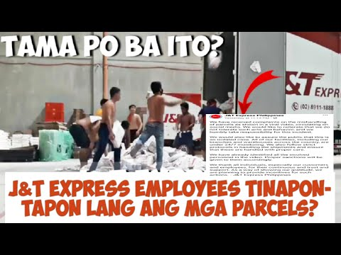 J&T EXPRESS EMPLOYEES MISHANDLING PARCELS?   J&T Philippines Apologize