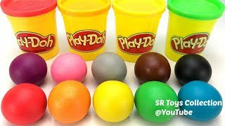 Learn Colors Play Doh Balls with Fruits and Vegetables Apple Pineapple Molds Fun & Creative for Kids