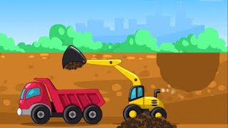 Excavator, Dump Truck, Road Rollers Builder | Game For Kids