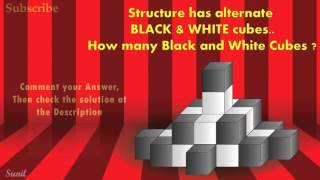 Puzzle of Black and white Cubes for maths tricks, skills, shortcuts educational