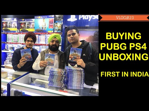 Buying And Unboxing PUBG PS4 || First In India || Free Bands, Mugs And PS Shirts