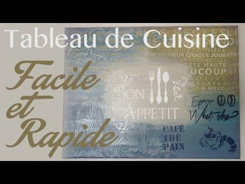 R aliser votre tableau cuisine youtube - Tableau de cuisine moderne ...