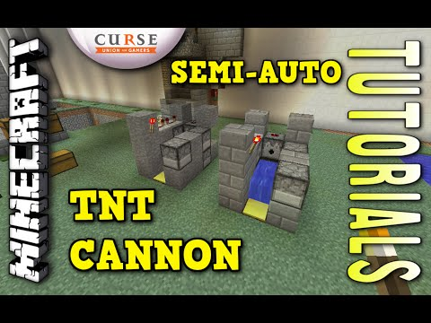 how to build a minecraft auto cannon