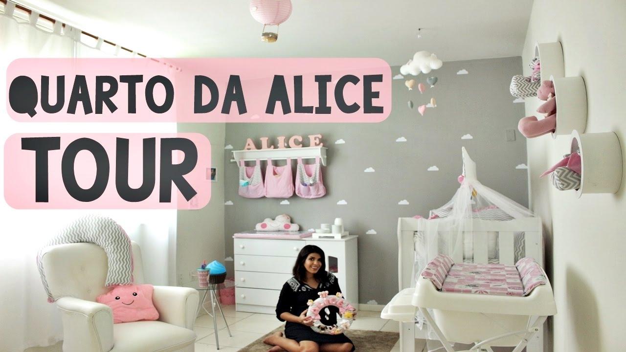 Tour quartinho do bebê Alice room tour Tema Nuvens  ~ Quarto Casal Tour