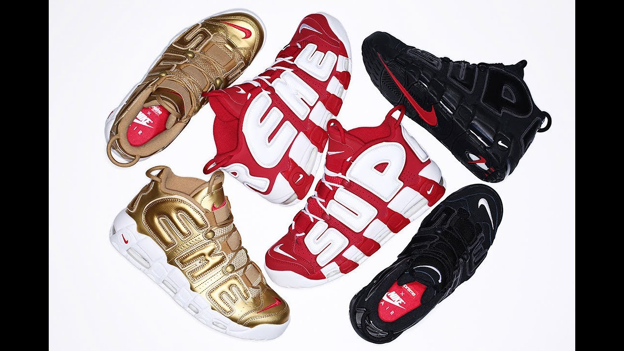 Authentic Nike x Supreme Air More Uptempo Three colorway HD Review from  aj23shoes.com