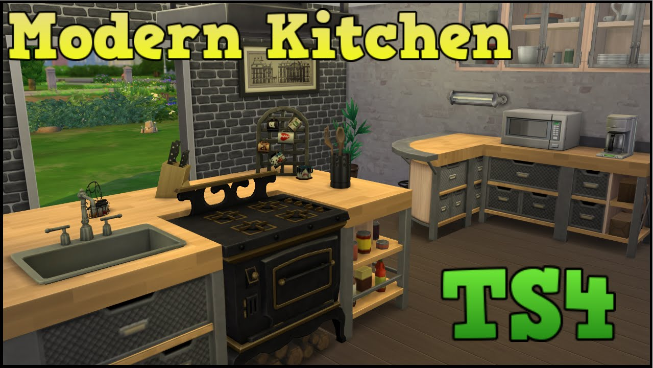 The sims 4 styled rooms modern kitchen youtube for Kitchen ideas sims 4