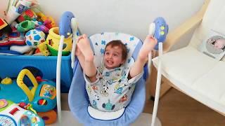 Evde Salıncak Keyfi | Eğlenceli Çocuk Videosu | Fun kids video | Swing | EgeTube | Çocuk Oyun Video