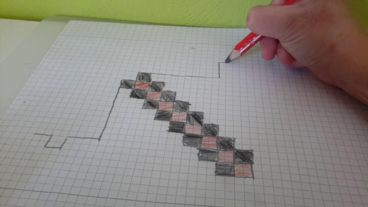 Tutorial Minecraft Spitzhacke Malen Youtube