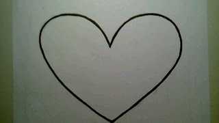 How To Draw The Perfect Heart simple step by easy como dibujar un corazon