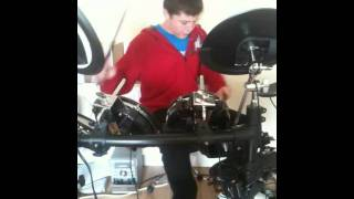 Devin Playing Drums - Chasing Cars