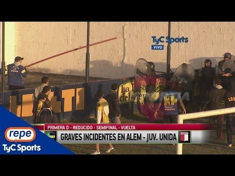 Graves incidentes entre Leandro N. Alem-Juventud Unida (HD)