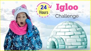 24 Hours IGLOO Challenge | #Fun #Europe #DIML #Vlog #MyMissAnand