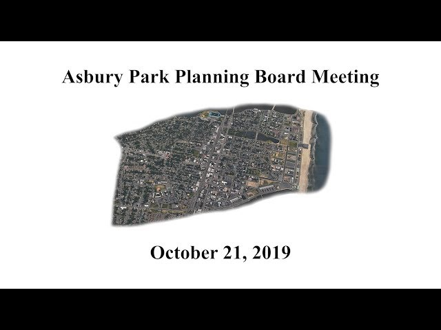 Asbury Park Planning Board Meeting - October 21, 2019