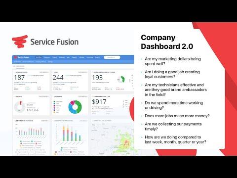 Service Fusion Dashboard 2.0
