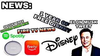 NEWS: 1 YEAR FREE DISNEY +   | FREE GOOGLE HOME MINI | ELON TWEETS THROUGH SPACE |  FIRE TV NEWS APP