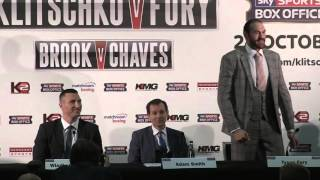 Tyson Fury tells Wladimir Klitschko: 'You've never fought a Gypsy king before'
