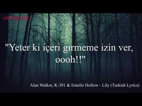 Alan Walker K-391 & Emelie Hollow - Lilly Türkçe/Turkish Lyrics