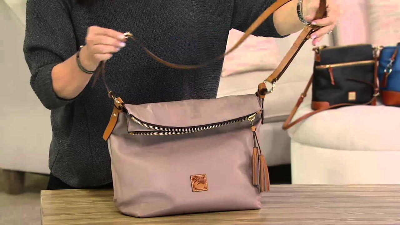 Samantha Brown Luggage Qvc: Dooney & Bourke Newbury Leather Dixon Crossbody Bag On QVC