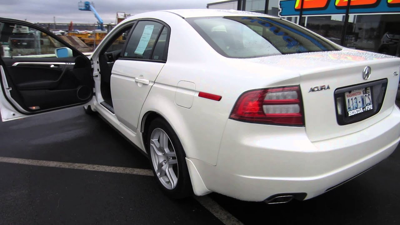 2007 Acura Tl White Diamond Pearl Stock 731382 Walk