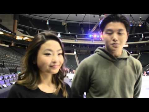 Interview with Maia and Alex Shibutani before Stars on Ice show, St ...