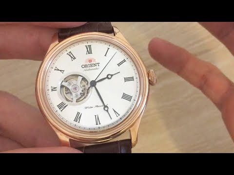 Orient Rose Gold Open Heart Automatic Watch AG00001S