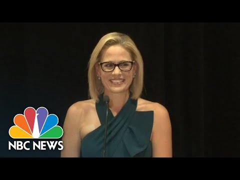 Kyrsten Sinema Celebrates Arizona Senate Win | NBC News