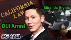 Miranda rights in a DUI arrest? A former DA explains