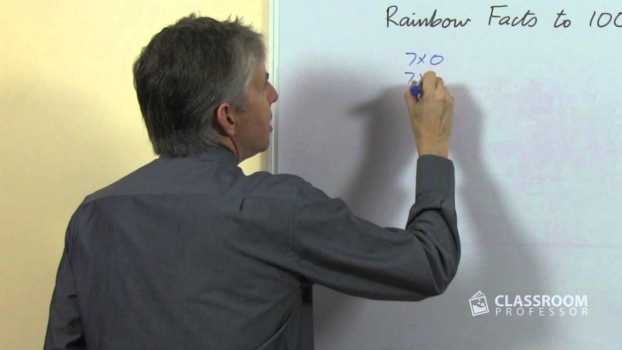 Teacher Math Lesson Rainbow Facts To 100 7x