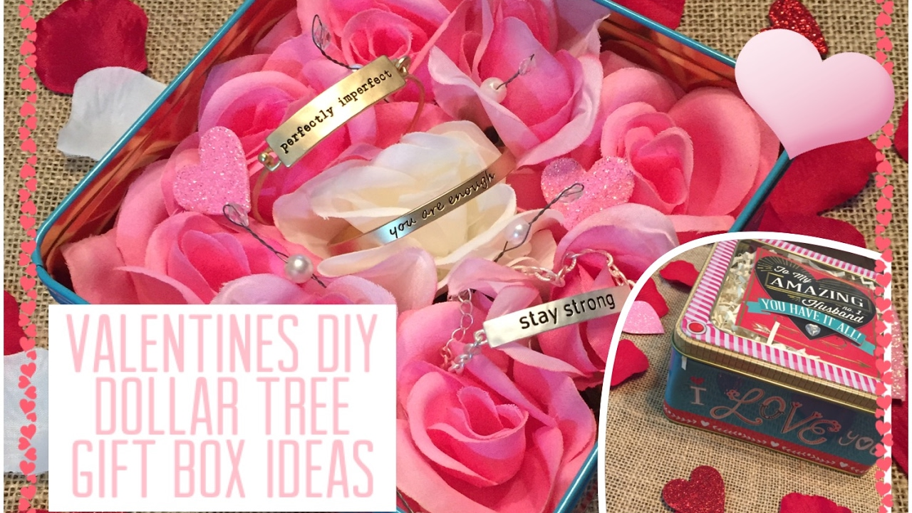 dollar tree diy valentines gift box ideas youtube