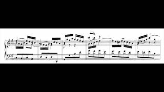 Glenn Gould: Goldberg Variations [1981] With Score -- Variatio 2. a 1 Clav.