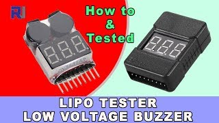 How to use LiPo Tester Low Voltage  buzzer alarm