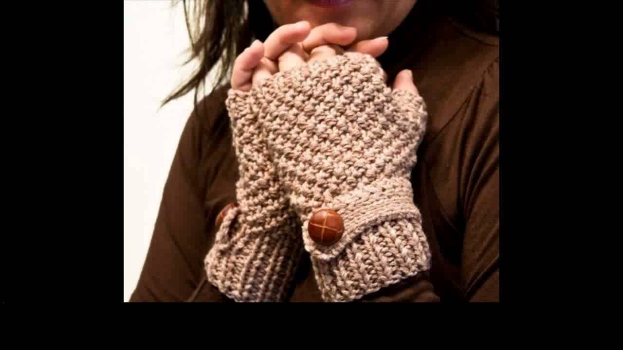 free crochet gloves pattern - YouTube